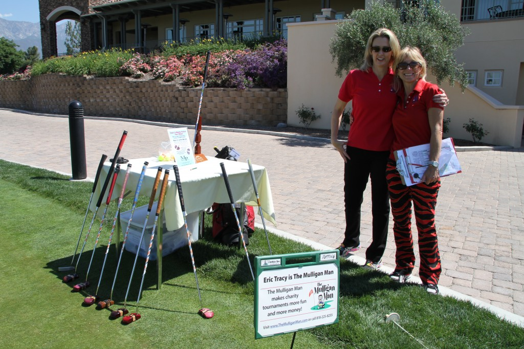 Laura & Cathy setting up the putting contest