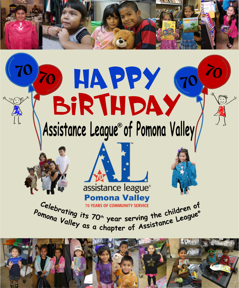 Happy Birthday to Assistance League<sup>®</sup> of Pomona Valley